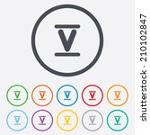 roman numeral five sign icon.... | Shutterstock .eps vector #210102847