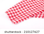 table cloth with red and white... | Shutterstock . vector #210127627