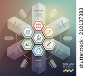3d arrow timeline infographics. ... | Shutterstock .eps vector #210137383