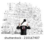 businessman hiding his face... | Shutterstock . vector #210167407