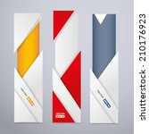 vertical banners with origami... | Shutterstock .eps vector #210176923