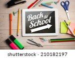composite image of digital...   Shutterstock . vector #210182197