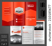 red business vector brochure... | Shutterstock .eps vector #210185677