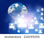 global network connections... | Shutterstock . vector #210195253