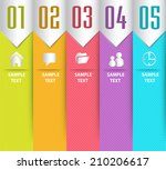 modern text box for graphic....   Shutterstock .eps vector #210206617