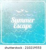 retro vintage grunge summer... | Shutterstock . vector #210219553