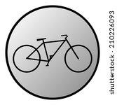 bike button on white background....   Shutterstock .eps vector #210226093