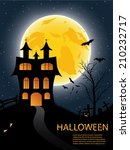 halloween background with... | Shutterstock .eps vector #210232717