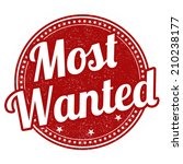 most wanted grunge rubber stamp ... | Shutterstock .eps vector #210238177
