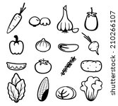 vegetable icons | Shutterstock .eps vector #210266107