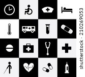 hospital icons set for use  | Shutterstock .eps vector #210269053