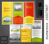 color business vector brochure... | Shutterstock .eps vector #210275827