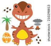cute dinosaur vector... | Shutterstock .eps vector #210298813