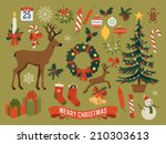 vector collection of christmas... | Shutterstock .eps vector #210303613