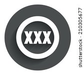 xxx sign icon. adults only...