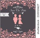 wedding invitation card. | Shutterstock .eps vector #210310627