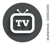retro tv sign icon. television...