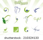 collection of golf icons...   Shutterstock .eps vector #210324133