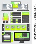 flat user interface element kit