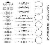 floral design elements set ... | Shutterstock . vector #210326497