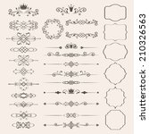 floral design elements set ... | Shutterstock . vector #210326563