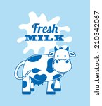 milk design over blue... | Shutterstock .eps vector #210342067