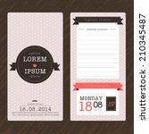 vintage ticket wedding... | Shutterstock .eps vector #210345487