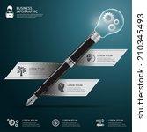 business pen with bulb... | Shutterstock .eps vector #210345493