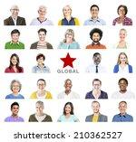 portrait of multiethnic...   Shutterstock . vector #210362527