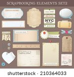 collection of various scrap... | Shutterstock .eps vector #210364033