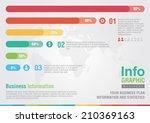 business bar percentage chart...   Shutterstock .eps vector #210369163