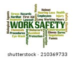 work safety word cloud on white ... | Shutterstock . vector #210369733