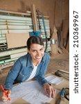 portrait of confident female... | Shutterstock . vector #210369967