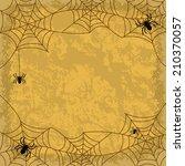 holiday halloween background ... | Shutterstock . vector #210370057