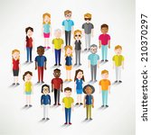 social groups of people icon... | Shutterstock .eps vector #210370297