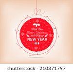 christmas label card | Shutterstock .eps vector #210371797
