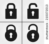 lock icons | Shutterstock .eps vector #210372013