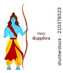 hindu mythological lord rama in ... | Shutterstock .eps vector #210378523