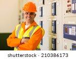 portrait of senior control room ...   Shutterstock . vector #210386173