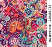 bright seamless pattern in... | Shutterstock .eps vector #210388753