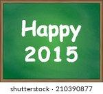 happy 2015 | Shutterstock .eps vector #210390877