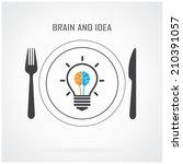 creative light bulb  idea and... | Shutterstock .eps vector #210391057