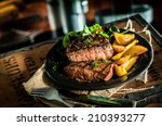 healthy lean grilled medium... | Shutterstock . vector #210393277
