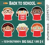 sale labels vector set 1. back... | Shutterstock .eps vector #210395737