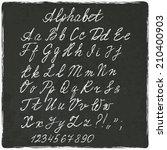alphabet old black board   ... | Shutterstock . vector #210400903