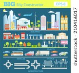 big set with city elements to... | Shutterstock .eps vector #210416017