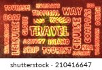 travel related tags cloud on... | Shutterstock . vector #210416647