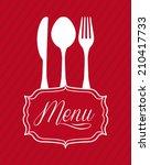 menu design over   red... | Shutterstock .eps vector #210417733