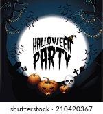 halloween party design eps 10... | Shutterstock .eps vector #210420367
