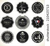 label set for restaurant  | Shutterstock .eps vector #210425713
